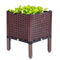 กระบะปลูกผัก-Balcony-box-แบบลึก-30-ซม.(1-ช่อง-มีขา13ซม.)