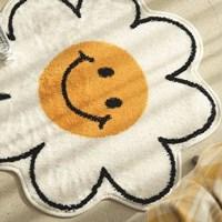 พรมเช็ดเท้า-พรมตกแต่งในบ้าน-ลายดอกไม้หน้ายิ้ม