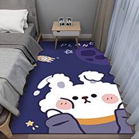 พรมปูข้างเตียง-ลายกระต่ายยักษ์