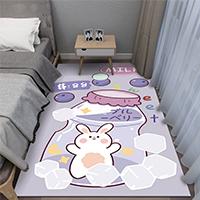 พรมปูข้างเตียง-ลายกระต่ายในขวดโหล