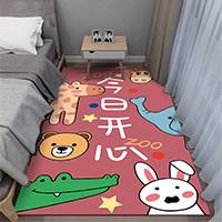 พรมปูข้างเตียง-ลายเพื่อนรักสัตว์โลก