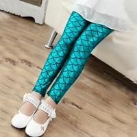 กางเกงเลกกิ้งนางเงือก-Mermaid-สีฟ้า