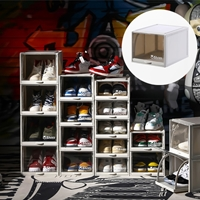 กล่องใส่รองเท้าแบบฝาหน้า-Shoe-Box-on-Street-สีเทา