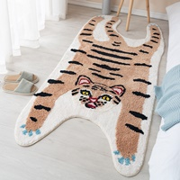 พรมปูข้างเตียง-พรมตกแต่งห้อง-Carpet-bedroom-หรูหรา-ลายเสือน้ำตาล