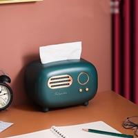 กล่องใส่กระดาษทิชชู่-Radio-Retro-Tissue-Box-สีกรม