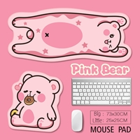 แผ่นรองเมาส์-รองคีย์บอร์ด-Pink-Bear(ได้-2-ชิ้น)