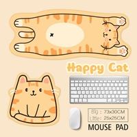 แผ่นรองเมาส์-รองคีย์บอร์ด-Happy-Cat(ได้-2-ชิ้น)