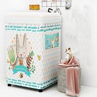 ผ้าคลุมเครื่องซักผ้าฝาบน-9-12-kg-ลายกระต่าย