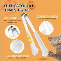 ที่คีบอาหารอุ้งเท้าแมว-สไตล์ญี่ปุ่น-สีขาว