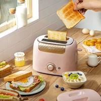 เครื่องปิ้งขนมปัง-ยี่ห้อ-Bear-สีชมพู