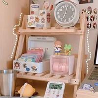 ชั้นวางของโต๊ะเขียนหนังสือ-Wood-Japanese-Style