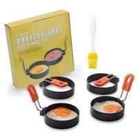 พิมพ์ทอดไข่ดาว-พิมพ์ทำอาหาร-Thick-Stainless-Steel-พร้อมที่จับซิลิโคน(เซต-5-ชิ้น)