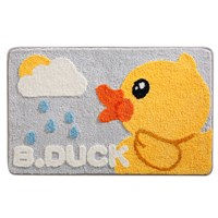 พรมเช็ดเท้า-Microfiber-ลายหน้า-B-Duck-ลาย-E