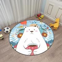 พรมปูพื้นนั่งเล่น-พรมตกแต่งห้อง-ลายหมีขาว