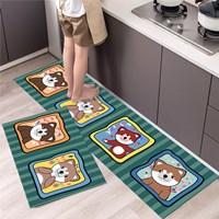 พรมกันลื่น-พรมห้องครัว-ลายหมาน้อย-บนพื้นเขียว(1-แถม-1)