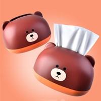 กล่องเก็บกระดาษทิชชู่-น้องหมี-Little-Bear-สีน้ำตาล-