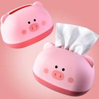 กล่องเก็บกระดาษทิชชู่-น้องหมี-Little-Pig-สีชมพู