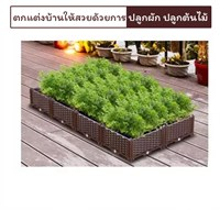 กระบะปลูกผัก-Balcony-vegetable-box-เซต-8-ช่องใหญ่
