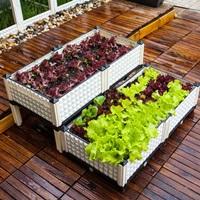 กระบะปลูกผัก-Balcony-vegetable-box-สีขาว-4-ช่องเล่นระดับ
