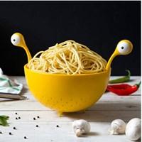 ตะกร้าวางอาหาร-Draining-basket-ลายเอเลี่ยน-สีเหลือง(1-แถม-1)