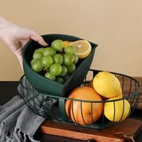 ตะกร้าใส่ผลไม้-European-style-fruit-plate-สีเขียว