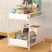 Pre-เปิดจอง-ชั้นวาง-Kitchen-Sink-Shelf-บนเคาเตอร์-ใต้เคาเตอร์-ขนาดใหญ่-สีขาว