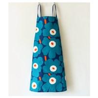 ผ้ากันเปื้อน-เชฟทำอาหาร--Marimekko-สีเขียวกรม