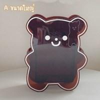 กล่องใส่ปากกา-ดอกไม้แจกัน-Acrylic-Kuma-หมีคุมะ-สีน้ำตาล-ไซส์-M