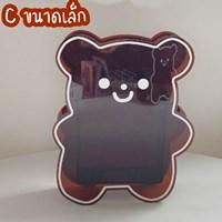 กล่องใส่ปากกา-ดอกไม้แจกัน-Acrylic-Kuma-หมีคุมะ-สีน้ำตาล-ไซส์-S