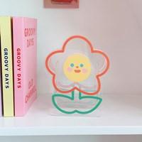 กล่องใส่ปากกา-ดอกไม้แจกัน-Acrylic-แบบดอกไม้-B