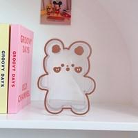 กล่องใส่ปากกา-ดอกไม้แจกัน-Acrylic-แบบLittle-Bear-E