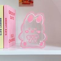 กล่องใส่ปากกา-ดอกไม้แจกัน-Acrylic-แบบBow-Bunny-F