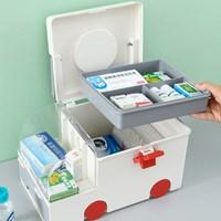 กล่องเก็บยาสามัญประจำบ้าน-Medicine-Box-Ambulance-สีเทา
