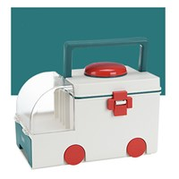 กล่องเก็บยาสามัญประจำบ้าน-Medicine-Box-Ambulance-สีเขียว