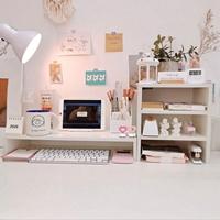 ชั้นวางของ-multifunctional-computer-monitor-สีขาว_Shelf-(ได้2ชิ้น)