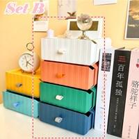 กล่องลิ้นชัก-Korea-Desktop-Storage-Box-แบบ-B(4-สี-4-ตัว)