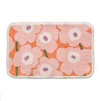 พรมเช็ดเท้า-Microfiber-ลาย-Marimekko-สีชมพูส้ม