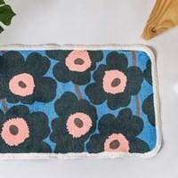 พรมเช็ดเท้า-Microfiber-ลาย-Marimekko-สีน้ำเงิน