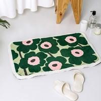 พรมเช็ดเท้า-Microfiber-ลาย-Marimekko-สีเขียวอ่อนและเข้ม