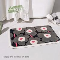 พรมเช็ดเท้า-Microfiber-ลาย-Marimekko-สีเทาดำ
