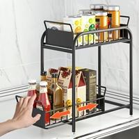 Pre-เปิดจอง-ชั้นวาง-Kitchen-Sink-Shelf-บนเคาเตอร์-ใต้เคาเตอร์-ขนาดเล็ก-สีดำ-