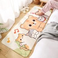 พรมตกแต่งห้อง-พรมนั่งเล่น-carpet-cute-ลายแมวและเพื่อน