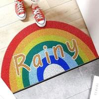 พรมดักฝุ่น-non-slip-mat--พรมมาม่า-PVC-carpet-ลาย-Rainy-รุ้ง
