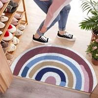 พรมดักฝุ่น-non-slip-mat--พรมมาม่า-PVC-carpet-ลาย-คลาสสิครุ้ง
