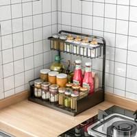 ช้้นวางของในครัว-L-Shaped-Kitchen-Sink-rack-สีดำ