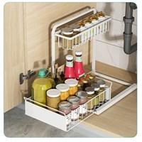 ช้้นวางของในครัว-L-Shaped-Kitchen-Sink-rack-สีขาว