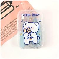 ชุดกรรไกรตัดเล็บครบเซต-7-ชิ้น-พร้อมกล่อง-พกพาง่าย-สีฟ้า-Litte-Bear