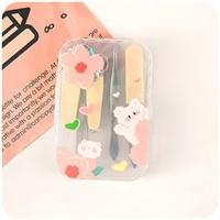 ชุดกรรไกรตัดเล็บครบเซต-7-ชิ้น-พร้อมกล่อง-พกพาง่าย-สีครีม-Flower-Bear
