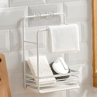 ที่วางฟองน้ำและแขวนผ้า-Kitchen-Towel-Rack-สีขาว