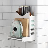 กล่องจัดระเบียบ-มี-ตะเกียบ-เขียง-Kitchen-Rack-MultiFunction-สีขาว